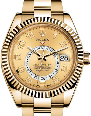 326938 Champagne Rolex Sky-Dweller