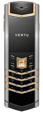 Yellow Gold Mixed Metals Black Leather Vertu Signature