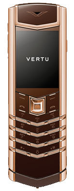 Red Gold Brown Leather Vertu Signature