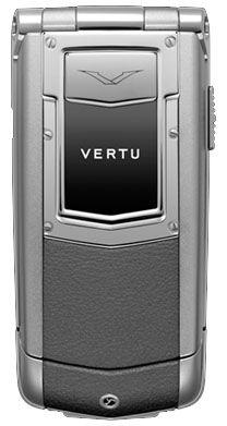 Vertu Ayxta Aluminium Silver Metallic Leather