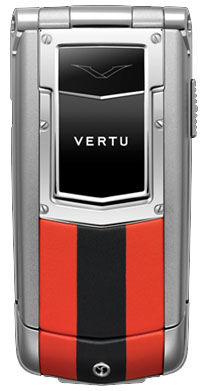 Red and Black Leather Vertu Ayxta