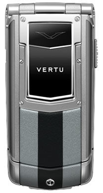 Silver and Black Leather Vertu Ayxta