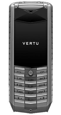 Vertu Ascent Titanium Stainless Steel Red Leather