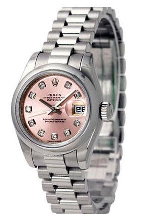 178246 pink dial diamond Rolex Datejust 31