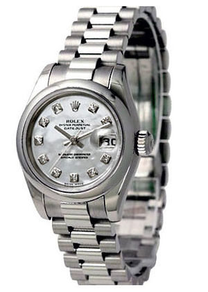 Rolex Datejust 31 178246 white mother of pearl dial diamond