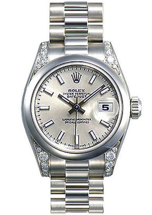 Rolex Datejust 31 178296 silver dial  luminous index