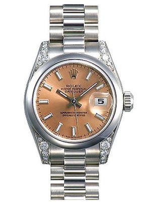 Rolex Datejust 31 178296 pink dial  luminous index