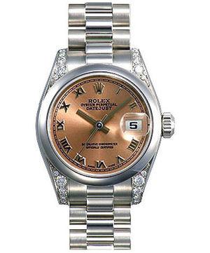 178296 pink dial  Roman numerals Rolex Datejust 31