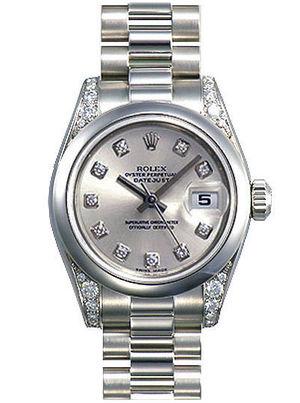 Rolex Datejust 31 178296 silver dial diamond