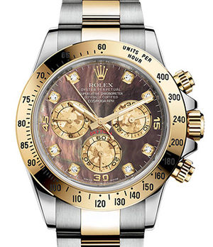 Rolex Cosmograph Daytona 116503 Black mother-of-pearl set with diamonds