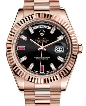 Rolex Day-Date II Archive 218235 black diamond rubin dial