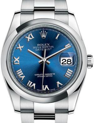 Rolex Datejust 36 116200 Blue Roman Oyster Bracelet