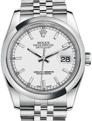 116200 White index Jubilee Bracelet Rolex Datejust 36
