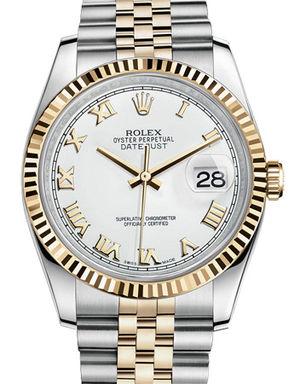 Rolex Datejust 36 116233 white roman dial Jubilee