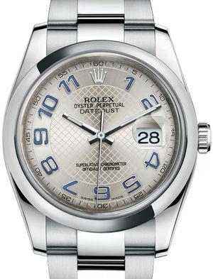 116200 silver blue Arabic Oyster Bracelet Rolex Datejust 36