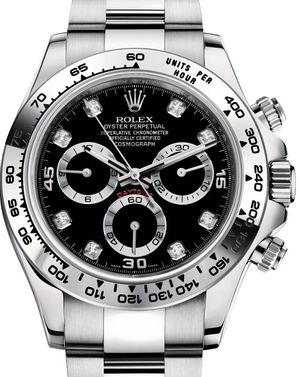 Rolex Cosmograph Daytona 116509 Black set with diamonds