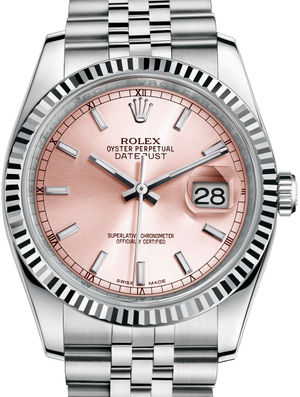 Rolex Datejust 36 116234 Pink index Jubilee Bracelet
