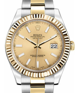Rolex Datejust 41 116333 champagne dial index USED
