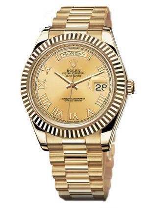 218238  champagne dial Roman numerals Rolex Day-Date II Archive