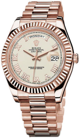 218235 ivory roman dial Rolex Day-Date II Archive