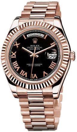 218235 black  roman dial  Rolex Day-Date II Archive