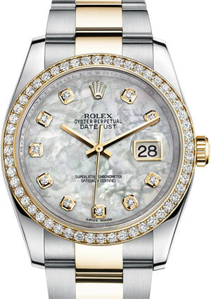 116243 mother of pearl diamond dial Oyster Rolex Datejust 36