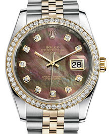 Часы Rolex Datejust 36 Yellow Rolesor and Diamonds Jubilee Bracelet