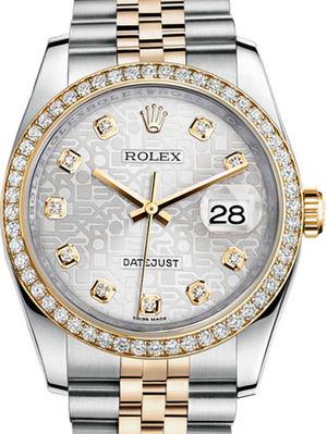 Rolex Datejust 36 116243 Silver Jubilee design set with diamonds