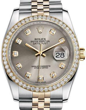 Rolex Datejust 36 116243 Steel set with diamonds