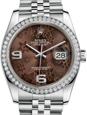 Rolex Datejust 36 116244 bronz floral dial jublilee