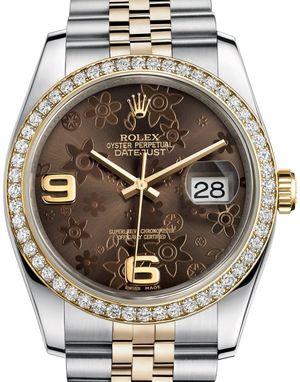 Rolex Datejust 36 116243 Bronze floral motif