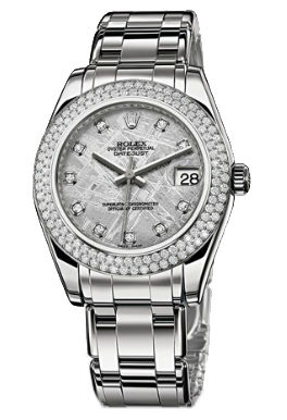 81339 Meteorite set with diamonds Rolex Pearlmaster
