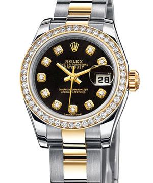 Rolex Lady-Datejust 26 179383 Black diamonds dial  Oyster