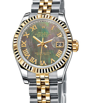 Rolex Lady-Datejust 26 179173 Black mother-of-pearl roman dial jubilee