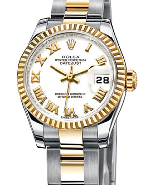 Rolex Lady-Datejust 26 179173 white Roman dial Oyster