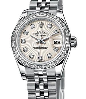 Rolex Lady-Datejust 26 179384 Ivory-coloured Sunbeam diamonds dial Jublil