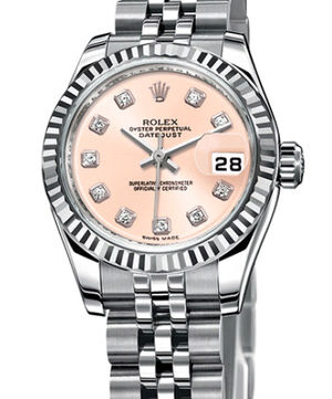 Rolex Lady-Datejust 26 179174 pink diamond dial Jublilee