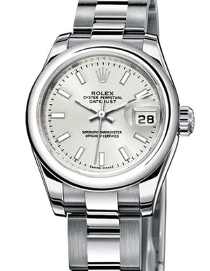 Rolex Lady-Datejust 26 179160 Silver index dial Oyster