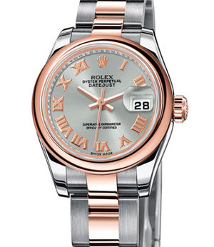 Rolex Lady-Datejust 26 179161 Steel Roman dial Oyster