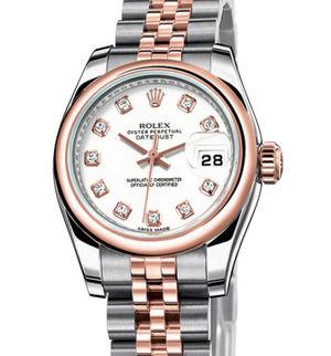 Rolex Lady-Datejust 26 179161 white diamond dial