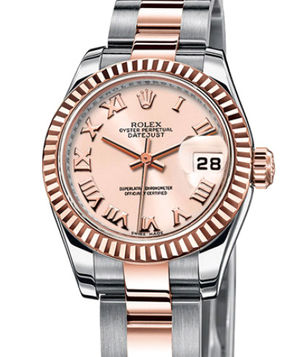 Rolex Lady-Datejust 26 179171 pink Roman dial Oyster