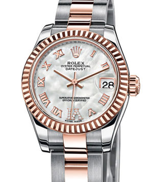 Rolex Lady-Datejust 26 179171 mother of pearl diamond Roman IV dial Oyste