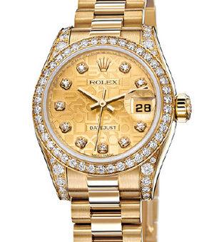 Rolex Lady-Datejust 26 179158 champagne jubilee diamond dial