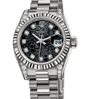Rolex Lady-Datejust 26 179239 black jubilee diamond dial
