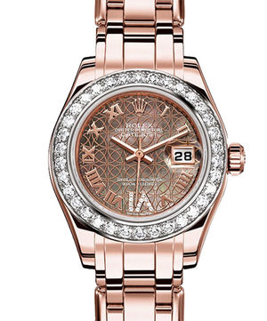 80285 black mother-of-pearl lotus flower Rolex Pearlmaster