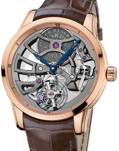 1702-129 Ulysse Nardin часы Skeleton Manufacture Red Gold