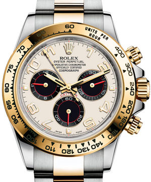 116523 ivory black subdials dial Rolex Cosmograph Daytona