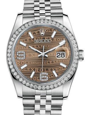 Rolex Datejust 36 116244 Bronze waves diamonds Jublilee Bracelet