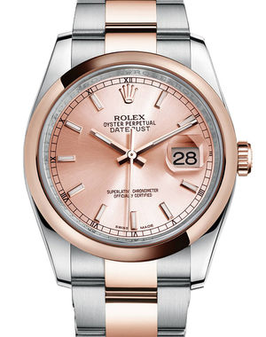 116201 pink index dial Oyster Rolex Datejust 36