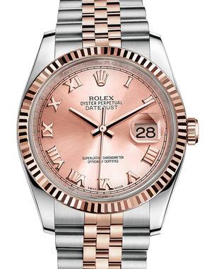 116231 pink Roman dial Jubilee Rolex Datejust 36